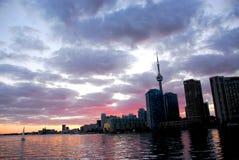 Skyline da cidade de Toronto fotos de stock