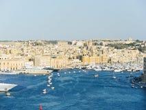 Skyline da cidade de Valletta, Malta Fotografia de Stock