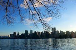 Skyline da cidade de Vancôver Imagem de Stock