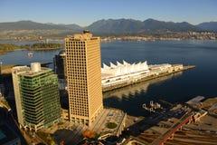 Skyline da cidade de Vancôver, BC, Canadá fotos de stock royalty free