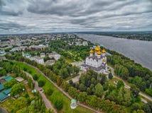 Skyline da cidade de Yaroslavl de Rússia fotos de stock