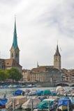 Skyline da cidade de Zurique Foto de Stock Royalty Free