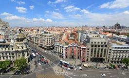 Skyline da cidade do Madri, Espanha imagens de stock royalty free