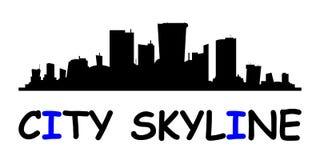 Skyline da cidade Estilo liso ilustração stock
