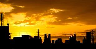 Skyline da cidade, Tóquio fotografia de stock
