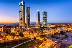 Skyline da Espanha do Madri foto de stock
