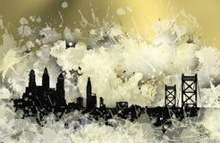 Skyline da mancha de Philadelphfia Fotos de Stock