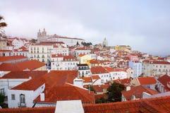 Skyline da mola de Lisboa Fotos de Stock Royalty Free