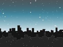 Skyline da neve Imagem de Stock