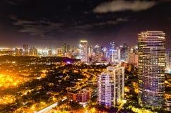 Skyline da noite Imagens de Stock Royalty Free