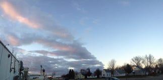 Skyline da noite Imagem de Stock Royalty Free