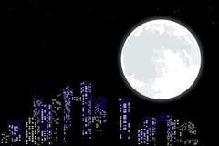 Skyline da noite ilustração stock