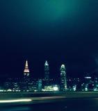 Skyline da noite Fotografia de Stock