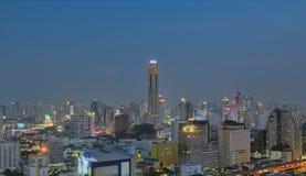 Skyline da noite de Banguecoque Fotografia de Stock