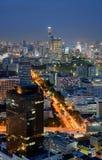 Skyline da noite de Banguecoque Foto de Stock