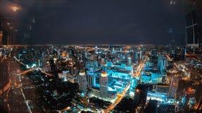 Skyline da noite de Banguecoque do hotel do céu de Baiyoke Fotografia de Stock