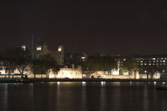 Skyline da noite de Londres Fotografia de Stock Royalty Free