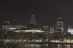 Skyline da noite de Londres Imagem de Stock Royalty Free