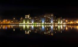 Skyline da noite de Poole Fotografia de Stock Royalty Free