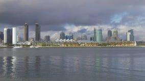 Skyline da opinião de ângulo larga de San Diego - CALIFÓRNIA, EUA - 18 DE MARÇO DE 2019 filme