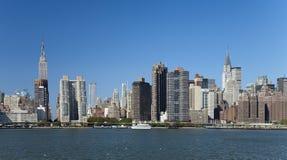 A skyline da parte alta da cidade de New York City Foto de Stock Royalty Free