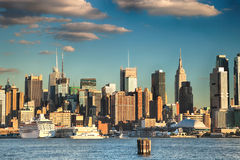 Skyline da parte alta da cidade de New York City Imagem de Stock