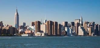 A skyline da parte alta da cidade de New York City Fotos de Stock Royalty Free