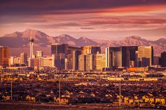 Skyline da tira de Las Vegas Imagem de Stock