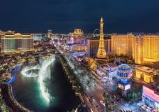 Skyline da tira de Las Vegas na noite Foto de Stock Royalty Free