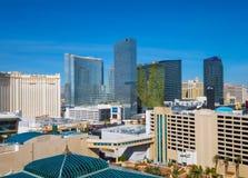 Skyline da tira de Las Vegas - vista aérea - LAS VEGAS - NEVADA - 12 de outubro de 2017 Fotografia de Stock Royalty Free