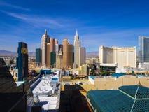 Skyline da tira de Las Vegas - vista aérea - LAS VEGAS - NEVADA - 12 de outubro de 2017 Imagens de Stock