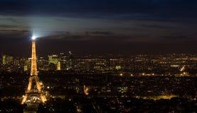 Skyline da torre Eiffel Imagens de Stock Royalty Free