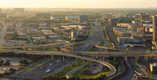 Skyline of Dallas, Highways, Texas, USA. Skyline of Dallas, Highways, Texas,USA stock photography