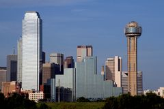 Skyline Dallas-Texas Lizenzfreie Stockfotos