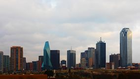 The skyline of Dallas during daylight. The skyline of Dallas, Texas during daylight royalty free stock photos