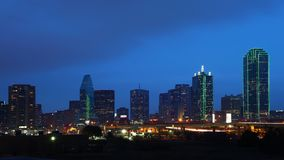 The skyline of Dallas at night. The skyline of Dallas, Texas at night royalty free stock photography