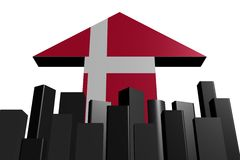 Skyline and Danish flag arrow Stock Image
