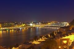 Skyline Danube Budapest Hungary night Royalty Free Stock Image