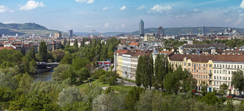 Skyline danube valley vienna Stock Photos