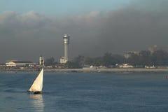Skyline of Dar Es Salaam in Tanzania in smog. The skyline of Dar Es Salaam in Tanzania in smog Stock Image