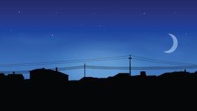 Skyline das casas ilustração stock