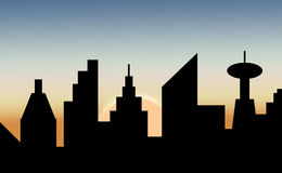 Skyline  dawn Royalty Free Stock Images
