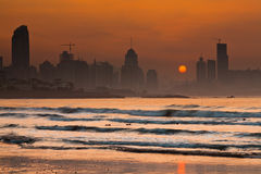 Skyline at dawn royalty free stock image