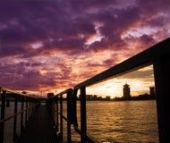 Skyline de Amsterdão Fotografia de Stock