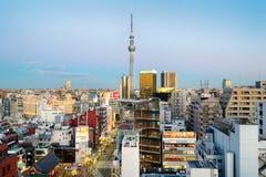 Skyline de Asakusa, Tóquio - Japão Fotografia de Stock Royalty Free