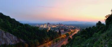Skyline de Asheville Imagem de Stock