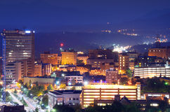 Skyline de Asheville Imagem de Stock Royalty Free