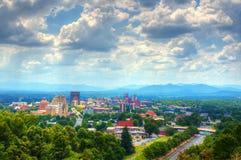Skyline de Asheville Imagens de Stock
