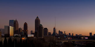 A skyline de Atlanta Imagens de Stock Royalty Free