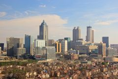 Skyline de Atlanta, EUA Fotografia de Stock Royalty Free